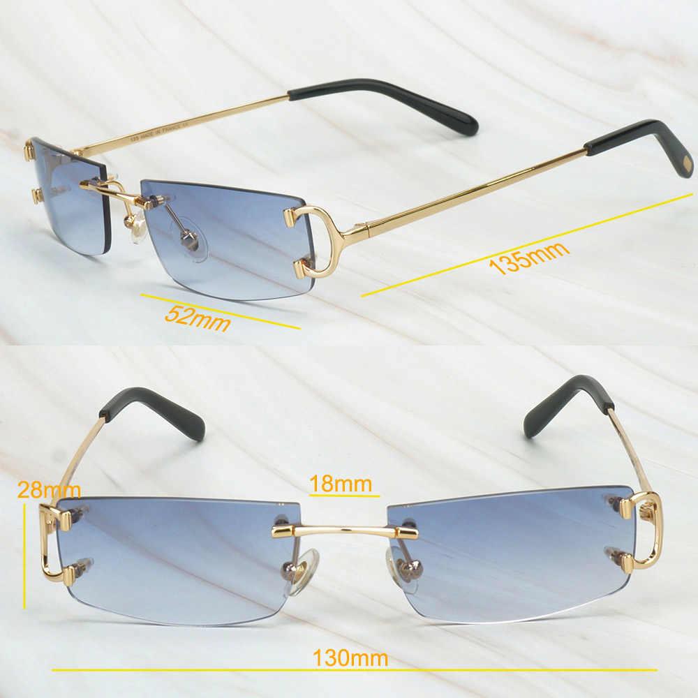 แว่นตากันแดด VINTAGE ผู้ชายแบรนด์หรูแว่นตากันแดดผู้ชาย Carter แว่นตากันแดด Rimless Shades ขายส่ง Retro แว่นตาผู้หญิงขับรถ