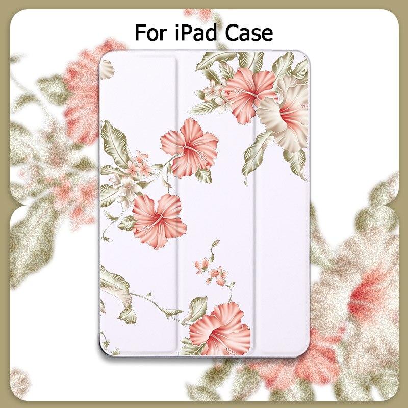 Estate Cassa Del Fiore Per iPad 2020 Pro 11 Tablet Cover Auto Sleep Wake Carino Per iPad Air 2 ipad 7th GEN Mini 5 Proteggere La Pelle Custodie