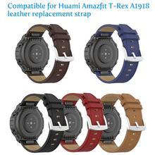 20 مللي متر حزام من الجلد ل شاومي Huami Amazfit Amazfit T Rex Smartband مناسبة ل ساعة ذكية استبدال سوار الملحقات