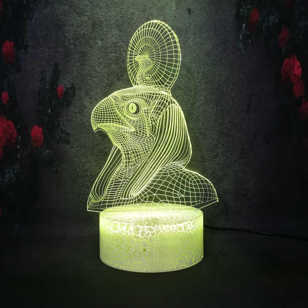 Необычный Фараон Кобра и Сокол одеваются Волшебная фигура декоративное ночное освещение Хэллоуин Карнавальный Костюм зомби ужас атмосфера 3D трещина лампа
