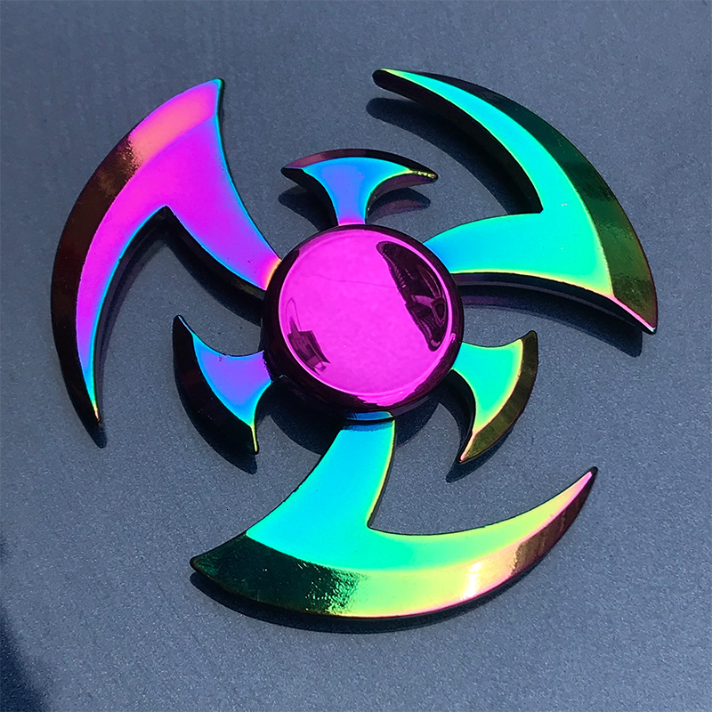Rainbow Plating Fidget Spinner Metal Hand Finger Spinner Stress Releaf Relax Toys Horse Peacock Shape For Adult Kids Children