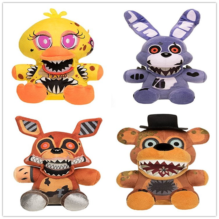 1pcs 18cm Arrival Five Nights At Freddy's 4 FNAF Plush Toys  Freddy Bear Bonnie Plush Stuffed Toys Doll For Kids Gifts