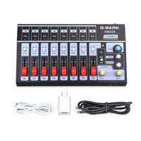 8 Channels Digital Mixer Console Stereo Audio Sound DJ Karaoke Mixer With USB for KTV Microphone English Vision