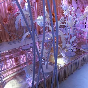 Image 2 - Pvc חתונה קשת דקורטיבי כביש עופרת שלב דוכן רקע פרח מסגרת עבור נישואי מסיבת יום הולדת DIY אספקת קישוט