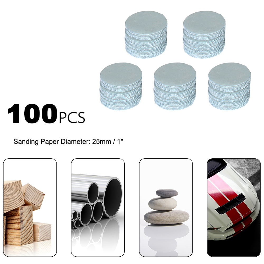 Hot New 100pcs 25mm Sander Disc Sanding Disk Polishing Grinding Accessories 3000 Grit Paper Set Sandpaper Kit