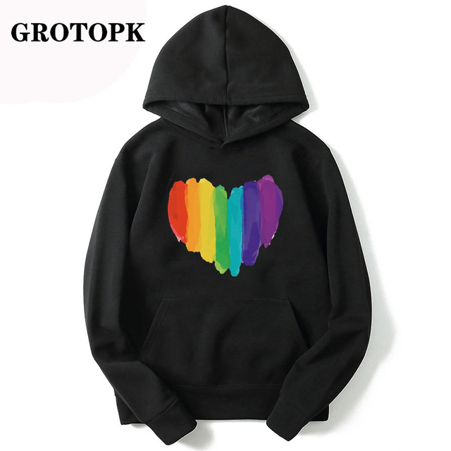 Gay Love Rainbow Heart Gay/&Lesbian Pride Girls Cute Cat Ear Crop Tops Hoodies Jacket Pullover