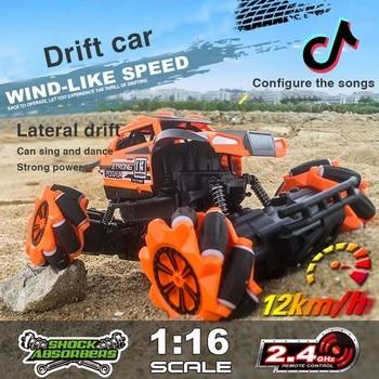 2.4G 4DW Monster Truck Drift Car Off-Road Crawler RC Cars Dazzles Dance Cool Drift Auto Demo Crawler Drift Car Toy Gifts RTR фото