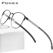 FONEX lunettes à yeux optiques pour femmes, en alliage de Silicone, montures de Prescription, rondes, myopie, 2020 sans vis, 987