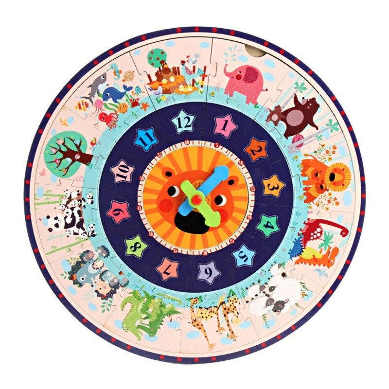 Горячая Хорошее качество обучение студентов часы время учитель Шестерни часы 12/24 час детские развивающие игрушки для детского подарка - Цвет: A