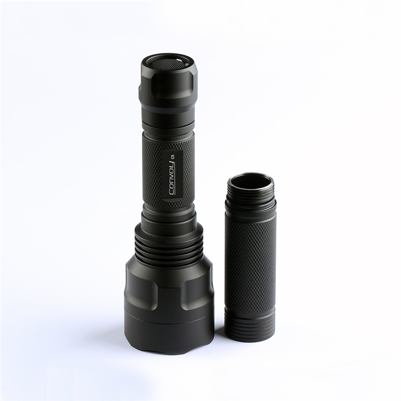 DIY Convoy C8 UV Flashlight Extension Body Tube For 1Pcs 18650 Battery Lantern Torch Spotlights Lamp Accessories