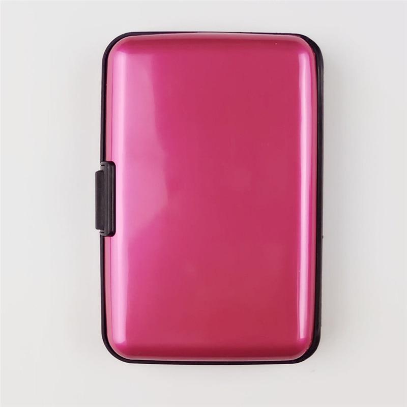 Case Luxury Fashion Women Men ID Credit Card Exquisite Waterproof Wallet Plastic Pocket Attractive Business Box Card Holder  812