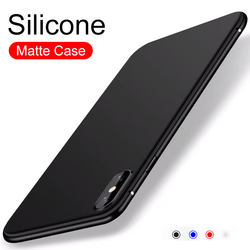 Luxury Silicone Soft Case For Iphone 11 Pro Xs Max X Xr Matte Ultra Thin Solid Color Case For Iphone Se 2020 7 8 6s 6 Plus 5 5s