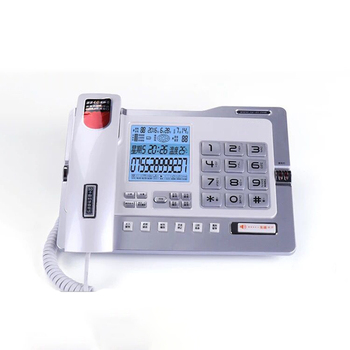 Multifunction Corded Landline Telephone Phone with Call Recording, Backlit, Message Leaving, 4G/32G Card, Password Prote