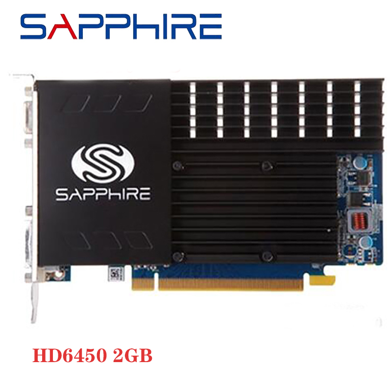 SAPPHIRE HD 6450 2GB Graphics Card GPU For AMD 6400 GPU Desktop Graphics Video Card Radeon HD 6450 2GB GDDR3 Used 1