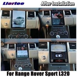 Image 5 - Dikey Tesla Android Land Rover Range Rover Sport için L320 2009 2013 radyo Android GPS navigasyon Carplay multimedya sistemi