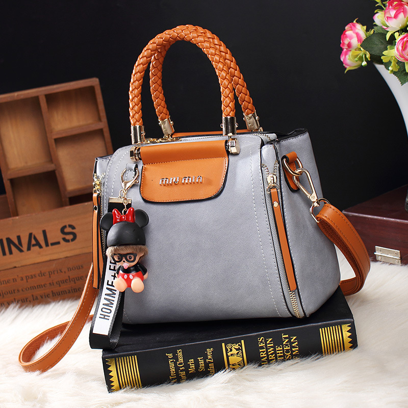 Image 3 - Fashion Ladies Tote Handbag Vintage Bags For Women 2019 Leather 