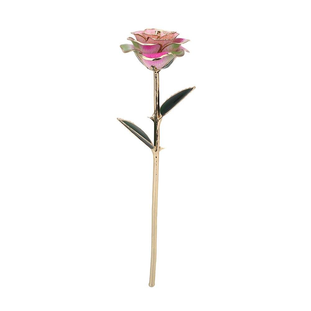 Цветочный декор, искусственный цветок, искусственная Роза, украшение, искусственная имитация, цвет, золотая фольга, 10 цветов, растительный орнамент, фестиваль - Цвет: Purple powder