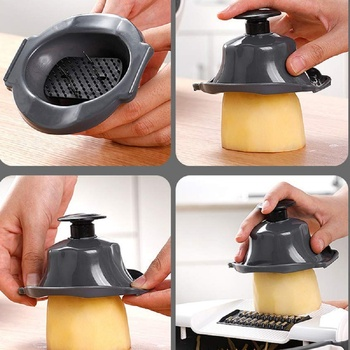 Magic Multifunctional Rotate Vegetable Cutter With Drain Basket 2