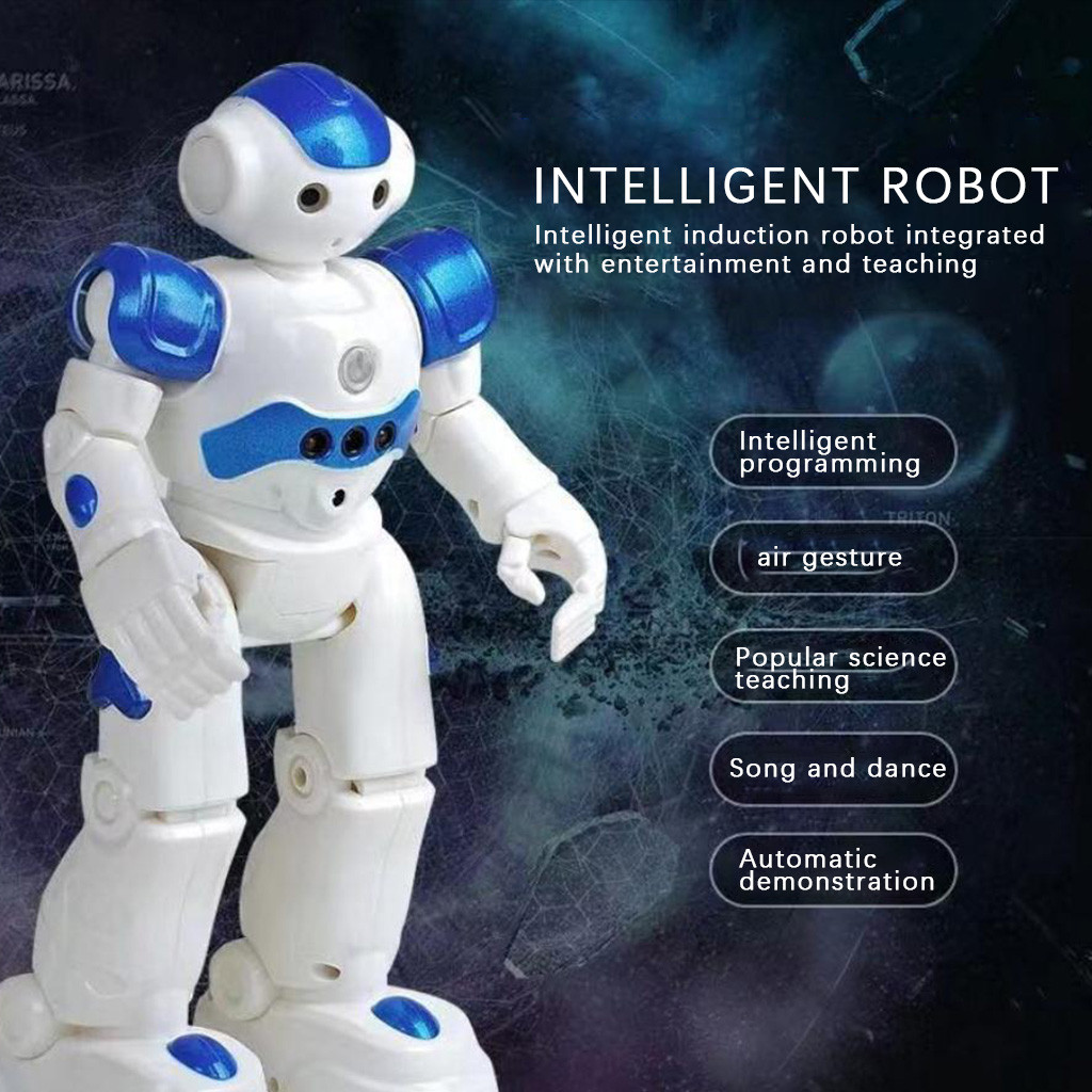 Robô inteligente multi-função de carregamento brinquedo das crianças dança controle remoto gesto sensor brinquedo presente para crianças controle
