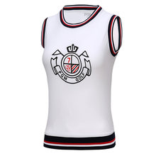 Golf Clothing Women Vest New Autumn Women Tops Golf Shirt Clothes Sports Sleeveless Polo Tshirt College Style Korean Sportswear(China)