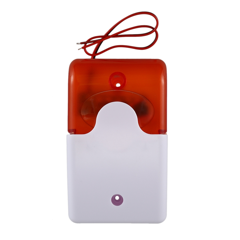 Mini Wired Strobe Warning Siren Durable Dc 12V Sound Alarm Flashing Light Sound Siren Horn Home Security Alarm System 115Db Oran