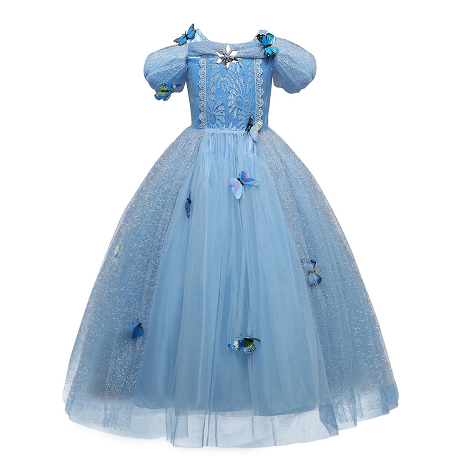 Girls Princess Dress Halloween Costume Birthday Party Clothing for Children Kids Vestidos Robe Fille Girls Fancy Dress 7