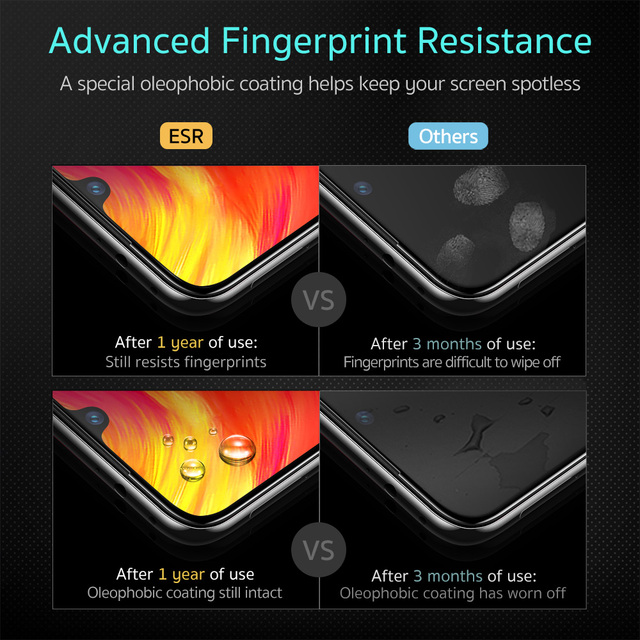 ESR Tempered Glass For Xiaomi 6 Redmi Note 7 Pro MIX 2 2S 3 Screen Protector HD Anti Blue-Ray Cover Protective Film for Xiaomi