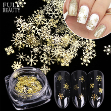 3D Christmas Nail Glitter Metal Snowflakes Sequins Flakes Mixed Flower Spangles Jewelry for Nail Art Decor Polish Manicure CH889