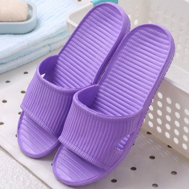 Nova mulher piso interior sapatos planos verão antiderrapante chinelos de banho chinelos de casa feminino confortável zapatillas hombre 2