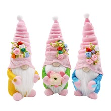 Spring Flowers Dwarf Gnome Easter Mother's Day Gnomes Gift Home Decoration Cute Creative Faceless Doll Party Festival Decors