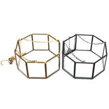 Octagonal Geometric Hanging Glass Flower Plant Vase Terrarium Container Pot Home transparent tabletop glass vase mini crystal hydroponic container terrarium plant flower pot vase home office wedding decor