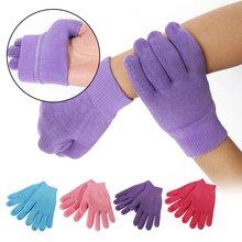 4 цвета, гелевые силиконовые перчатки для спа, смягчающие отбеливающие, отшелушивающие, увлажняющие, для лечения, маска для рук, уход, ремонт, для женщин, леди, красота