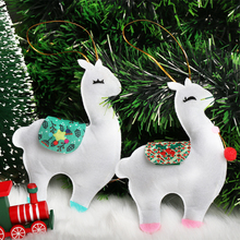 6pcs/Set Cute Felt Alpaca Pendant Hotel Bar Table Decoration Creative Christmas Festival Decorations