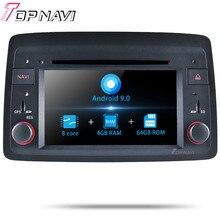 Topnavi Android 9,0 Автомобильный gps навигация для Fiat Panda: 2004 мультимедийный плеер Радио Стерео Восьмиядерный DVD 2 Din 4 Гб+ 64 ГБ