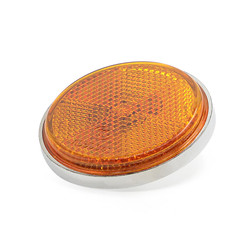Round Motorcycle Front Fork Cover Reflector Amber plate pads board For Honda Z50A SL125 CT70 Replace 33741-286-670
