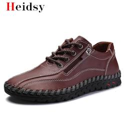 Brand New Men Shoes Big Size 38-50 Mens Shoes Casual High Quality Genuine Leather Shoes Lace Up Man Flats Shoes Driving shoes