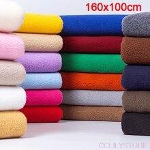 Tela Polar de 100x160cm, tejido grueso de algodón suave de felpa aterciopelada, costura hecha a mano para el hogar