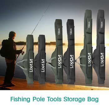 Lixada 80cm/130cm/150cm Fishing Bag Portable Folding Fishing Rod Reel Bag Pole Gear Tackle Tool Case Carrier Travel Storage - DISCOUNT ITEM  40 OFF Sports & Entertainment