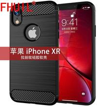 Carbon Fiber Texture Silicon for iphone XR Case TPU Shockproof Back Cover Rugged Case for IPHONE XR Mobile Phone Accessories g case for iphone 7 leather skin plating tpu mobile back shell carbon fiber texture coffee