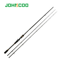 JOHNCOO BOOSTER 2.1m 2.4m Carbon Baitcasting Rod M/ML Power Ex fast Action Spinning Rod 2 Tips KR SiC Ring Casting Fishing Rod