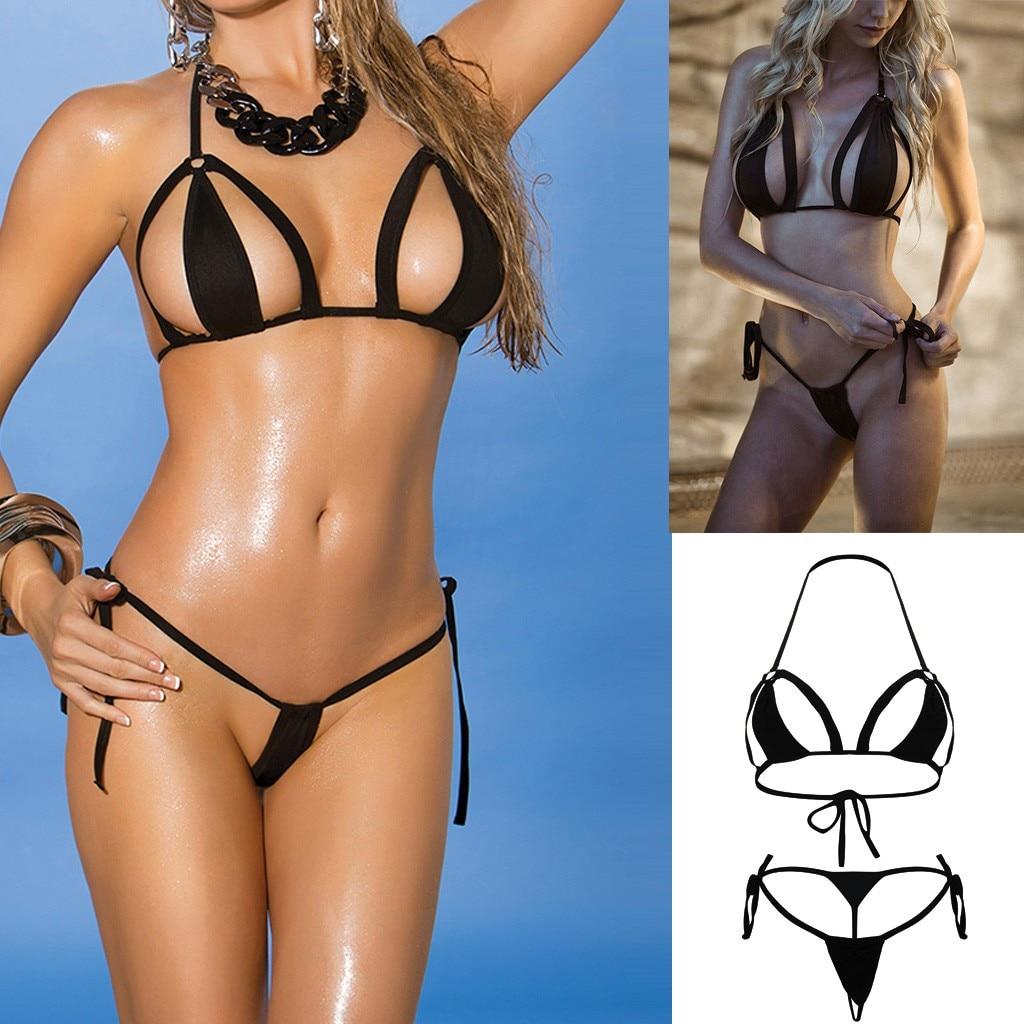New Women sexy corset lingerie set Sexy Simple Lingerie Set With G-String Underwear Hollow Bodydoll bielizna damska komplety A50