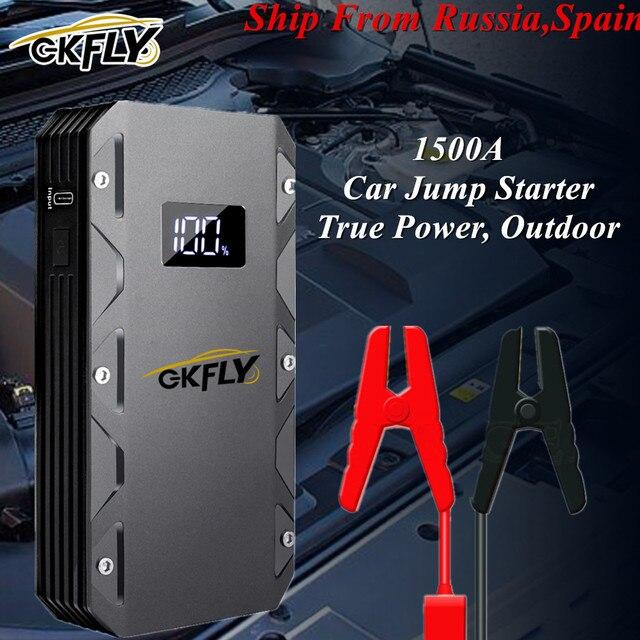 GKFLY 20000mAh High Power Car Jump Starter 12V 1500A Emergency Car Starting Device Portable Power Bank For Car Battery Booster