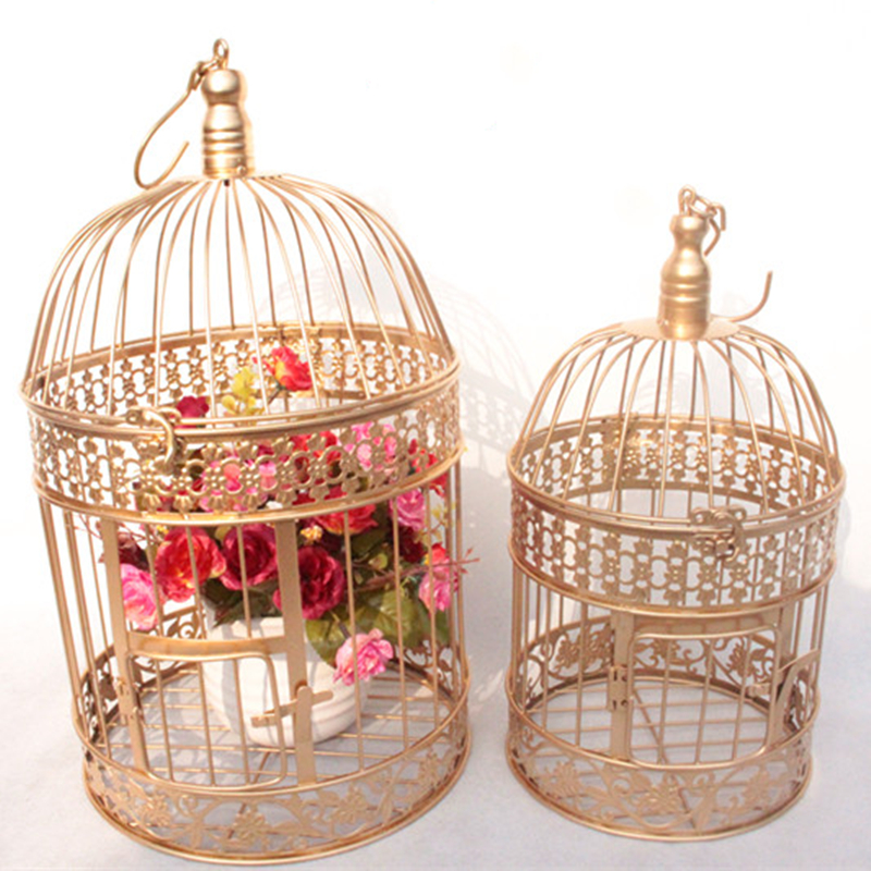 Modern Metal Bird Cage European Wrought Iron Bird Cage Wedding Decoration Flower Cage Ornaments Flower Pot Succulent Bird Cage Bird Cages Nests Aliexpress