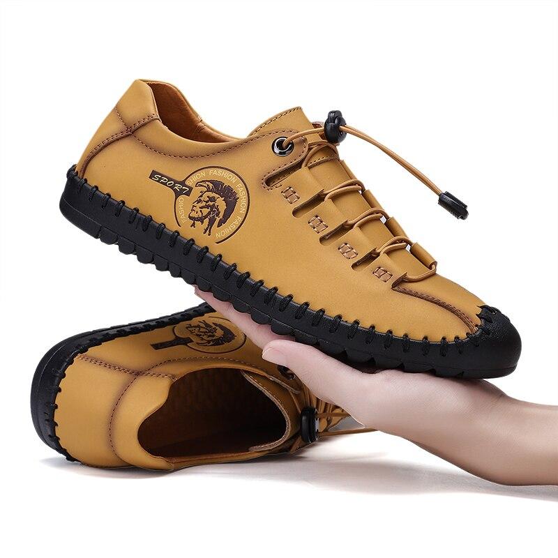 New Hot Sale Designer Shoes Men Casual Shoes Loafers Men Shoes Quality Split Leather Shoes Men Flats Moccasins Shoes Plus Size