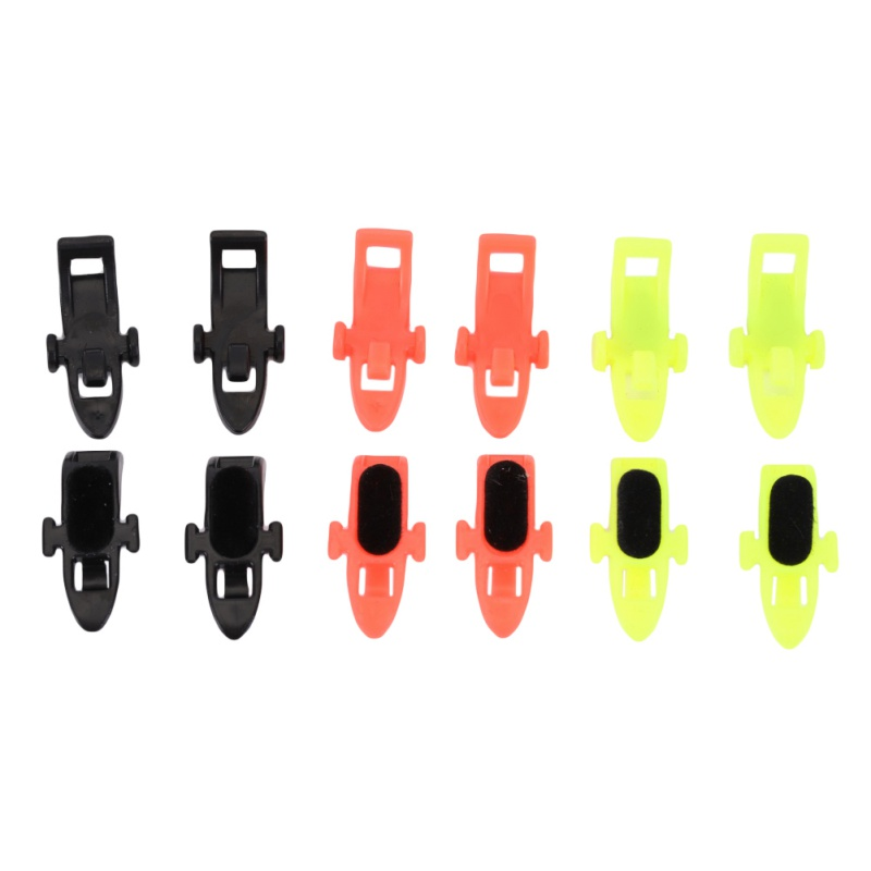 10pcs Fishing Hook Keeper Lure Bait Holder With Rubber Ringsfor Fishing Rod Fishing Gear Portable Accessories Fixed Bait