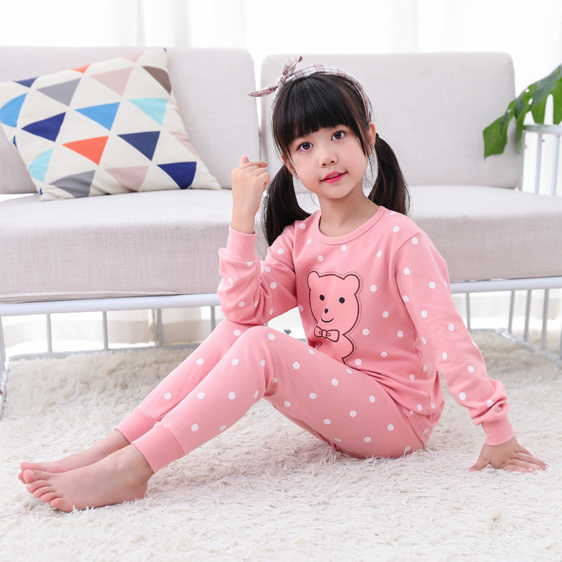 2019 New Pyjamas Baby Boys Sleepwear Kids 100% Cotton Long Sleeve Cartoon Panda Pajamas For Girls Home Clothes Nightwear Pijamas