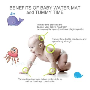 Image 5 - Baby Kids Water Play Mat Toys Inflatable Thicken PVC Infant Tummy Time Playmat Toddler Activity Play Center Water Mat for Babies