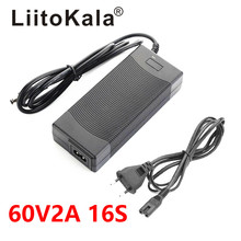 LiitoKala Electric bike charger 67.2V 2A lithium battery charger for 16S 60V Li-ion Battery pack E-bike Charger DC 5.5*2.1MM hk liitokala 54 6v 2a charger 13s 48v li ion battery charger output dc 54 6v lithium polymer battery charger free shipping