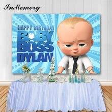 Inmemory parede azul chefe bebê backdrops crianças aniversário fotografia fundo para photo studio photophone casa decorações