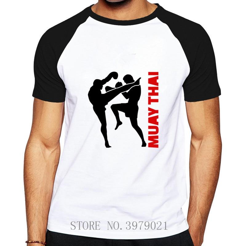 2019 Fashion Custom Hot Summer Muay Thai Fight Leisure T Shirt Men's Raglan Sleeve Cotton Brand Men T-shirt Group Brand Clothing